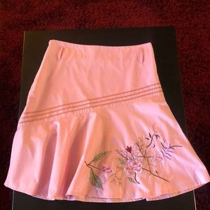 Dresses & Skirts - Pink skirt w/embroidered and sequin details.